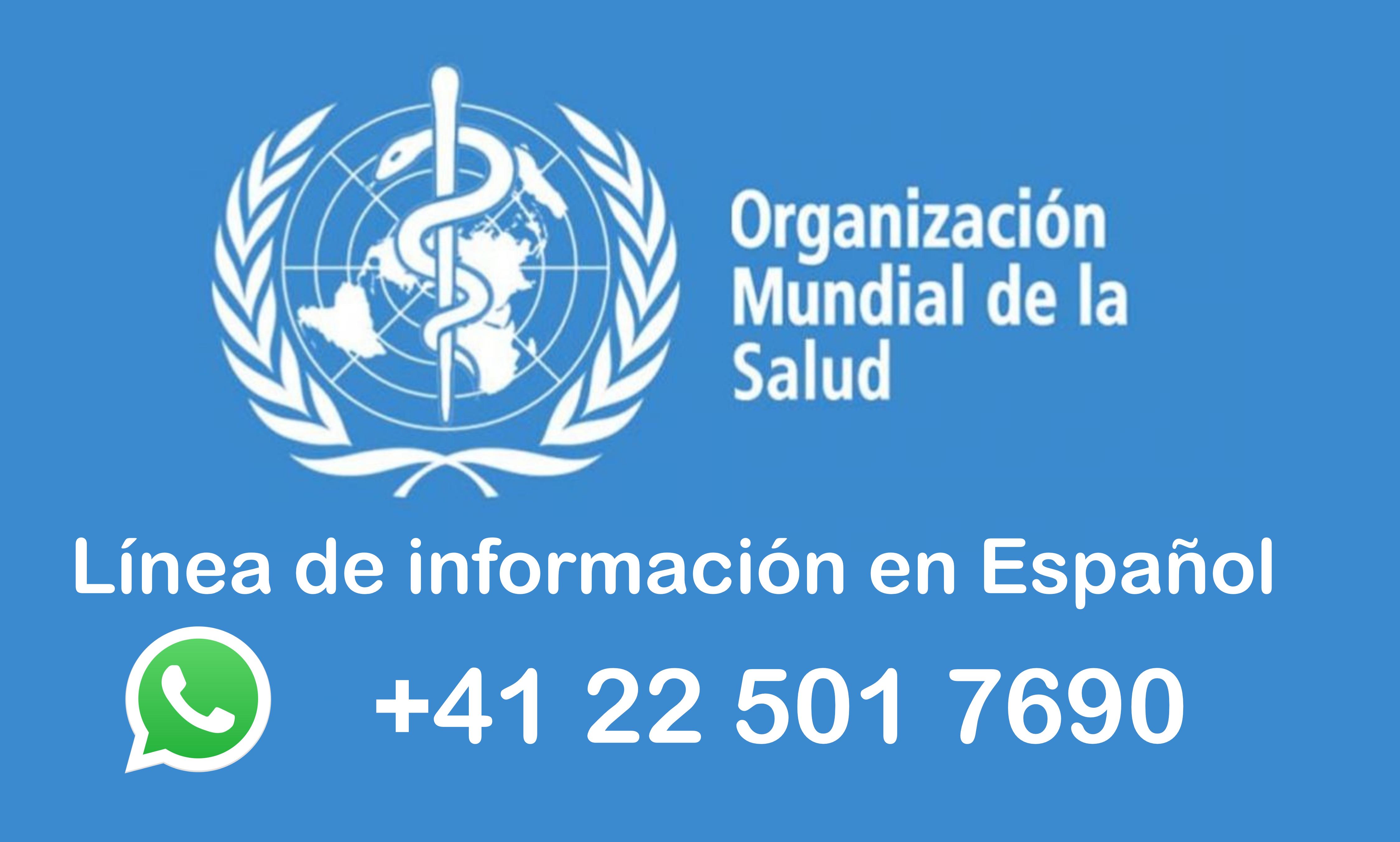 OMS combate la desinformación abriendo Whatsapp para informar en Español