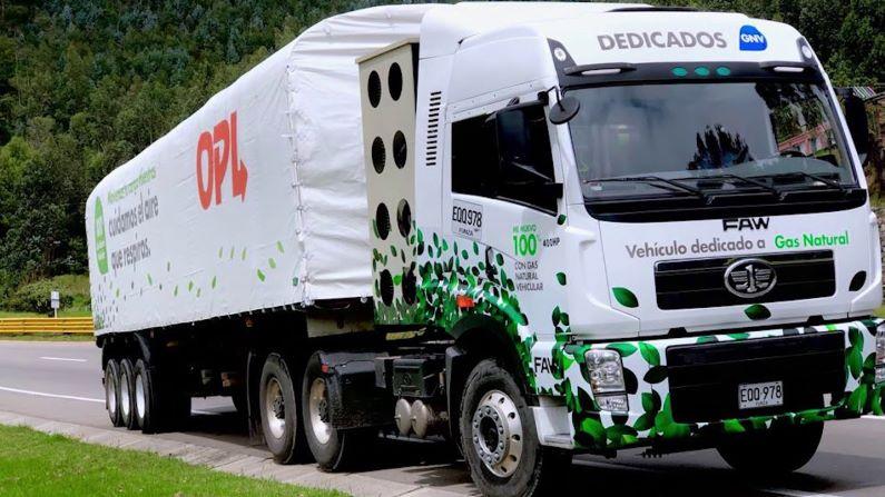 OPL Carga aporta a la mitigación del cambio climático con su parque automotor con tecnología 100% GNV